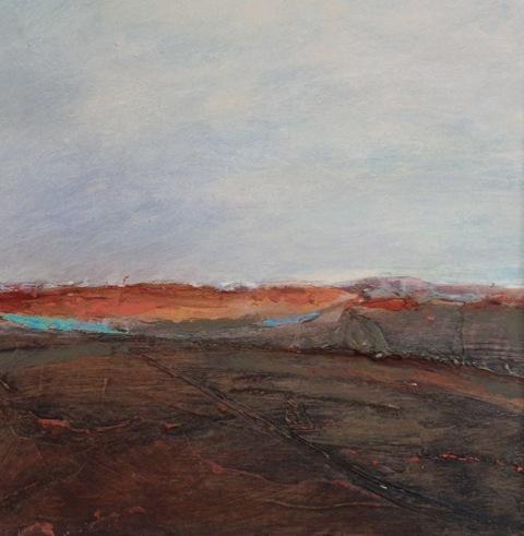 'Awakening' landscape Acrylic on Board 15cmx15cm