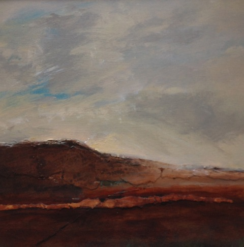 'Looking Back to Home' Landscape Acrylic on Board 30cmx28cm