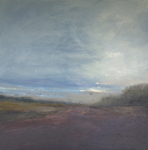'The Fog Lifts' Landscape Acylic on Board 70cmx70cm