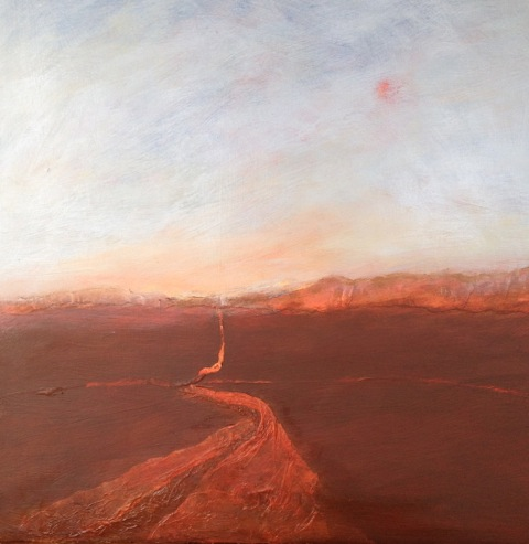 'The Way Home' Landscape Acrylic and Mixed Media