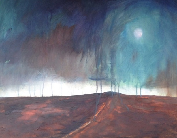 'Veiled Light'Lanscape  Acylic on Canvas 76cmx60cm