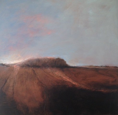 'What Lies Ahead' Landscape Mixed Media on Board 50cmx50cm